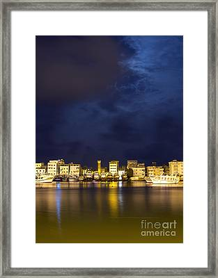 Evening In Ezbet El-borg Framed Print