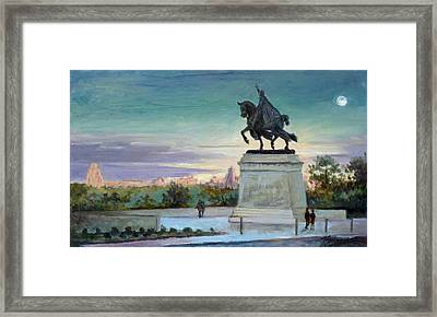 Evening In Forest Park Saint Louis Framed Print