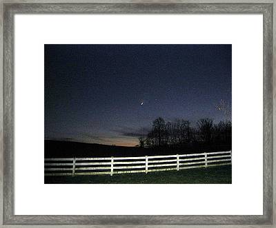 Evening In Horse Country Framed Print