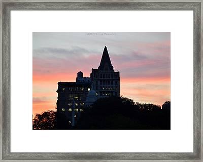 Evening In New York Framed Print by Sonali Gangane