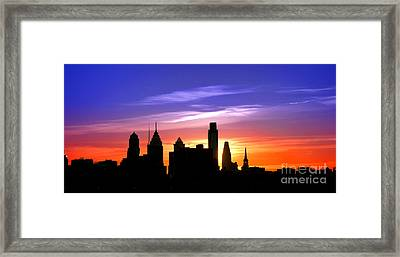 Evening In Philly Framed Print by Olivier Le Queinec