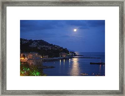 Evening In Rapallo Framed Print by Roberto Galli della Loggia