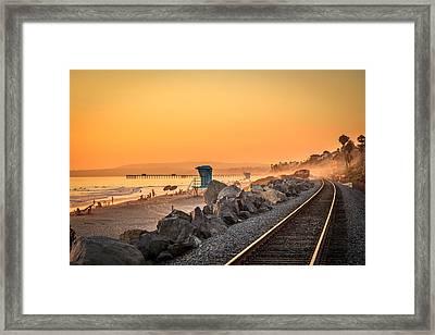 Evening In San Clemente Framed Print by Steve Skinner