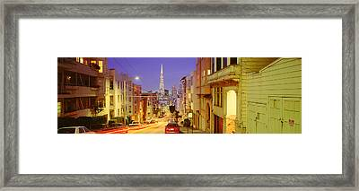 Evening In San Francisco, San Framed Print by Panoramic Images