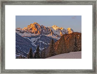 Evening In The Alps Framed Print by Martin Capek