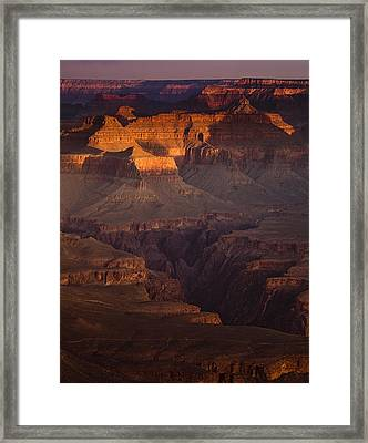 Evening In The Canyon Framed Print
