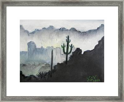 Evening In The Desert Framed Print