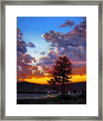Evening In The Valley Framed Print by Dianna Ponting