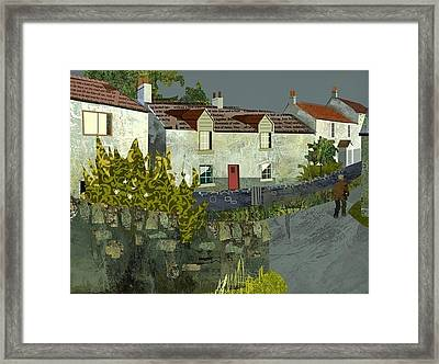 Evening In The Village. Framed Print by Kenneth North