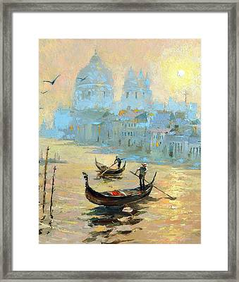 Evening In Venice Framed Print