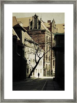 Evening In Wroclaw Framed Print by Cambion Art
