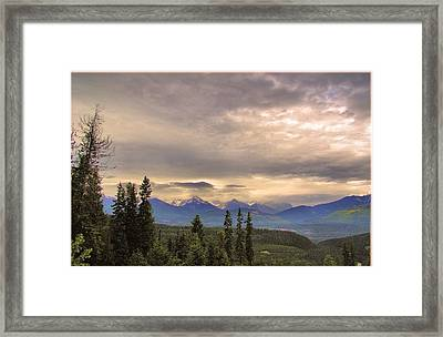 Evening In Yoho Framed Print by Janet Ashworth