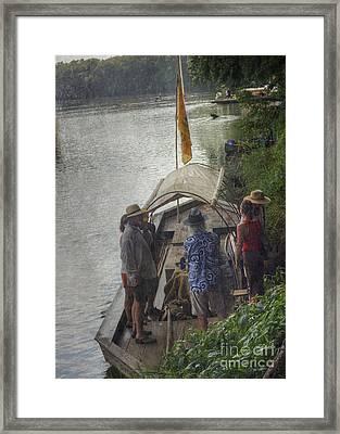 Framed Print featuring the photograph Evening Landing by Pete Hellmann