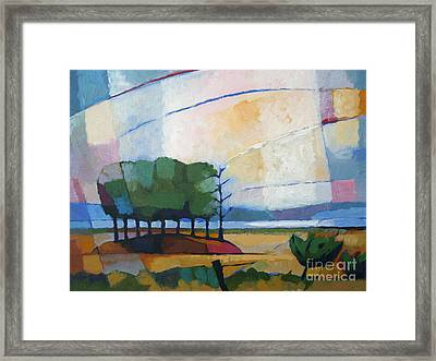Evening Landscape Framed Print by Lutz Baar