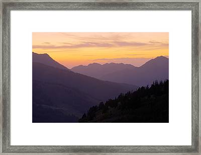 Evening Layers Framed Print by Chad Dutson