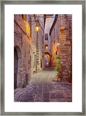 Evening Light Along A Back Alley Framed Print by Terry Eggers