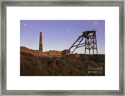 Evening Light At Botallack Framed Print by Terri Waters