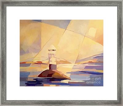 Evening Light At The Sea Framed Print by Lutz Baar