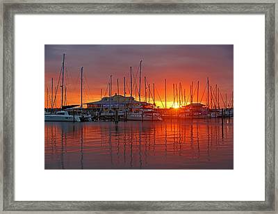 Evening Light Framed Print by HH Photography of Florida