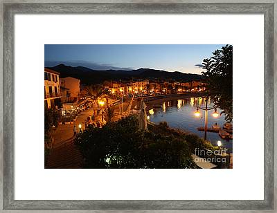 Evening Light In Collioure Framed Print by Carol Groenen