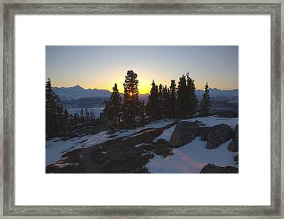 Evening Light On A Mountain Ridge Framed Print by Tim Grams