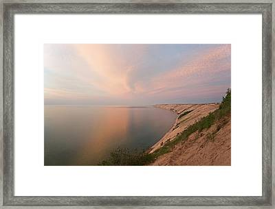 Evening Light On Grand Sable Banks Framed Print