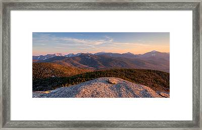 Evening Light On The Adirondack High Framed Print by Panoramic Images
