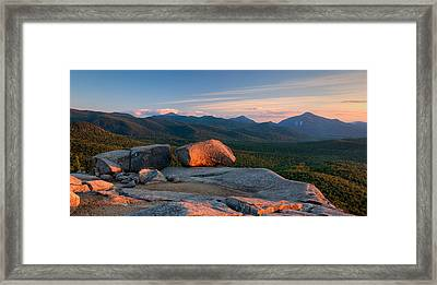 Evening Light On The Balanced Rocks Framed Print by Panoramic Images