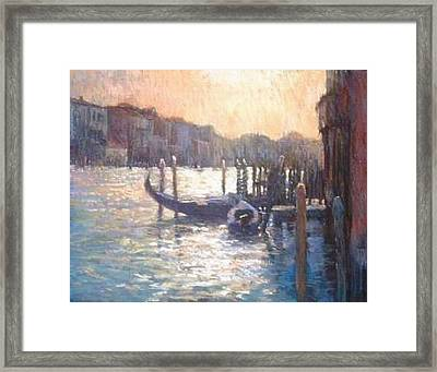 Evening Light On The Grand Canal Framed Print by Jackie Simmonds