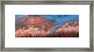 Evening Light On Twin Peaks And Pioneer Framed Print by Carl Johnson