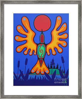 Evening Marsh Framed Print by Jim Oskineegish