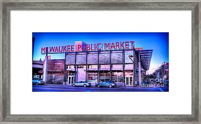 Evening Milwaukee Public Market Framed Print