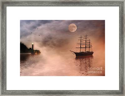 Evening Mists Framed Print by John Edwards