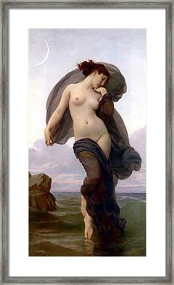 Evening Mood Framed Print by Adolphe-William Bouguereau