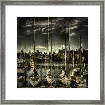 Evening Mood Framed Print by Jean OKeeffe Macro Abundance Art