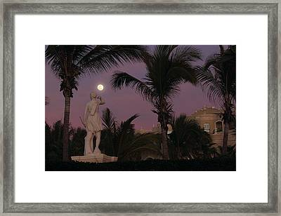 Evening Moon Framed Print by Shane Bechler