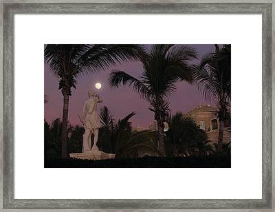 Evening Moon Framed Print by Shane Bechler