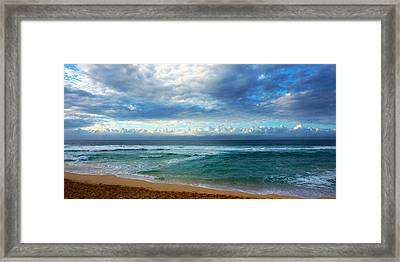 Evening North Shore Oahu Hawaii Framed Print
