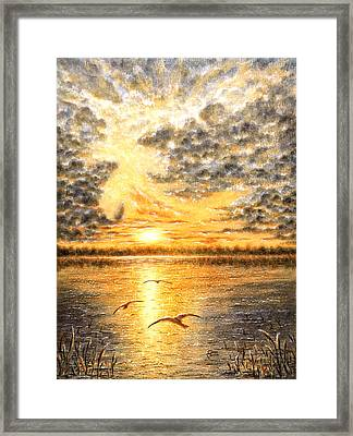 Evening Of The 5th Day Framed Print