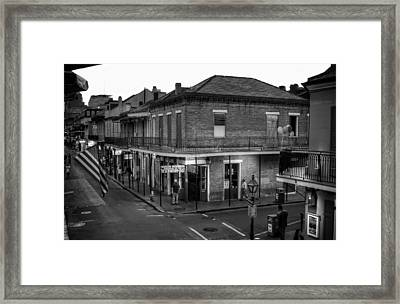 Evening On Bourbon In Black And White Framed Print