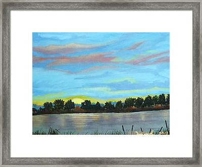 Evening On Ema River Framed Print