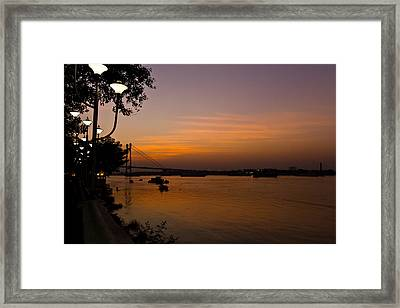 Evening On Ganga Framed Print