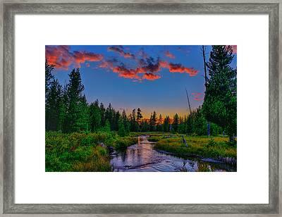 Evening On Lucky Dog Creek Framed Print