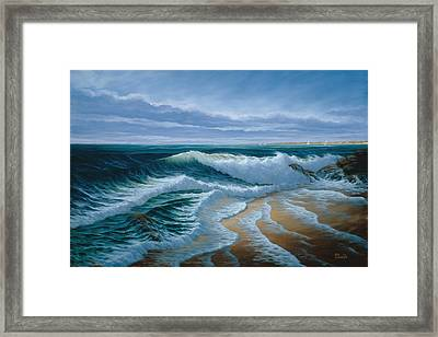 Evening On Monterey Bay Framed Print