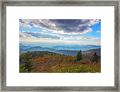 Evening On The Blue Ridge Parkway Framed Print