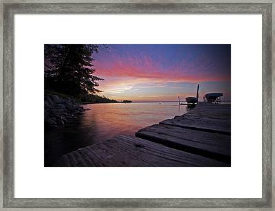 Evening On The Dock Framed Print
