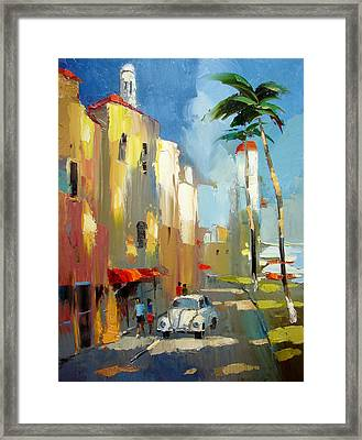 Evening On The Isla Mujeres Framed Print by Dmitry Spiros