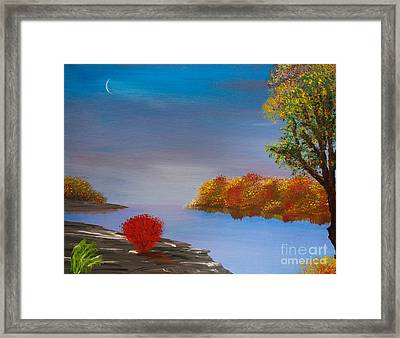 Evening On The Last Sunny Day Framed Print