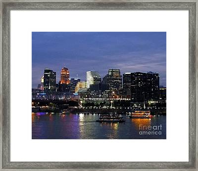 Evening On The River Framed Print