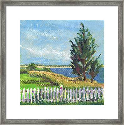 Evening Orient And Peconic Bay Framed Print